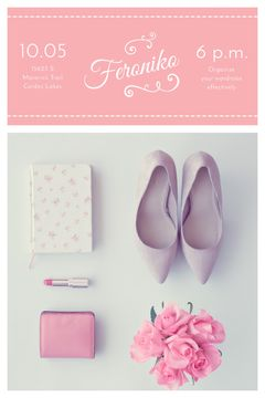Fashion Event Announcement Pink Outfit Flat Lay | Tumblr Graphics Template