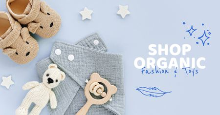 Plantilla de diseño de Organic Fashion and Toys store ad Facebook AD