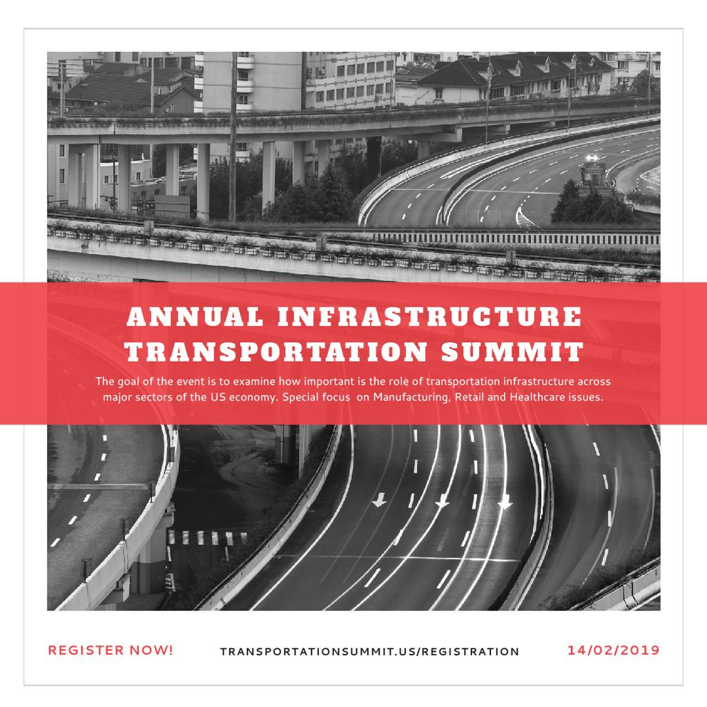 Annual infrastructure transportation summit — Створити дизайн