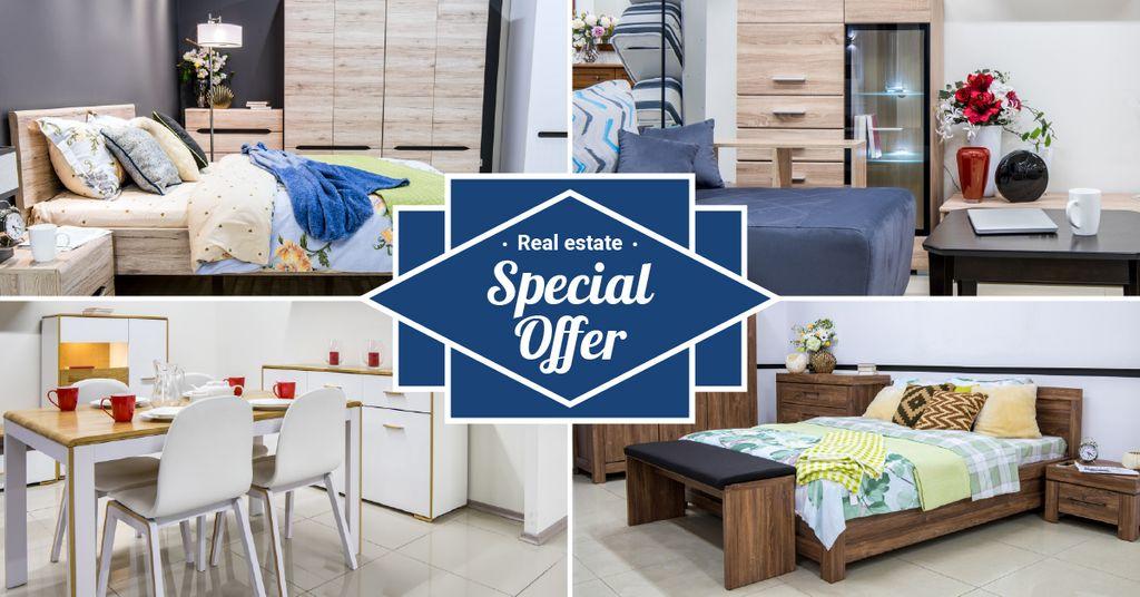 Plantilla de diseño de Real Estate Offer Property Cozy Interior Facebook AD