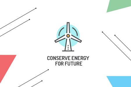 Ontwerpsjabloon van Gift Certificate van Concept of Conserve energy for future