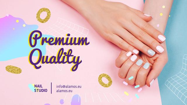 Template di design Beauty Salon Ad Manicured Hands in Pink Full HD video