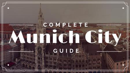 Munich city guide Ad Youtube Modelo de Design