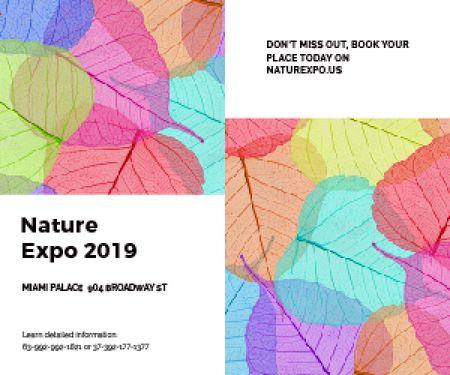 Plantilla de diseño de Nature Expo 2019 Medium Rectangle
