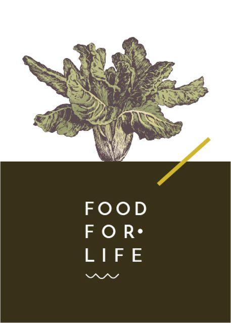 Healthy Food Green Cabbage Flayer – шаблон для дизайна