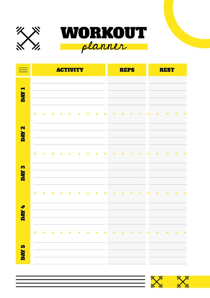 Workout Planner with Barbells sign — Create a Design