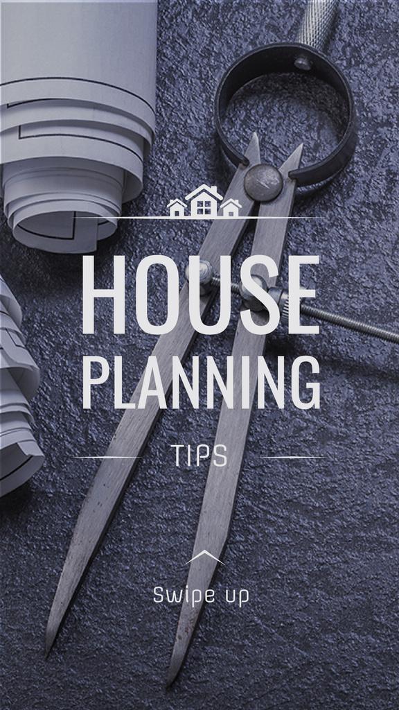 House Plans blueprints on table — Maak een ontwerp