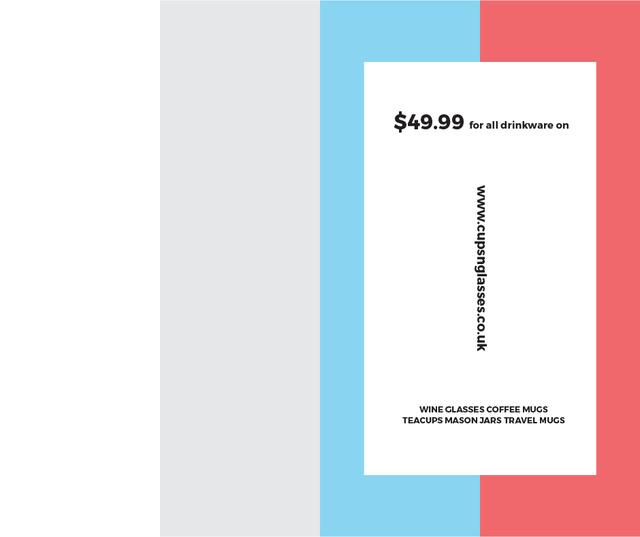 Shop Sale announcement on colorful Stripes Facebook Modelo de Design