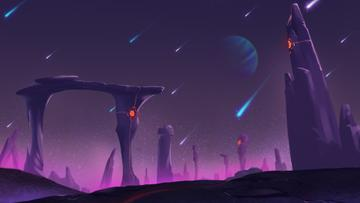 Landscape of Purple Planet