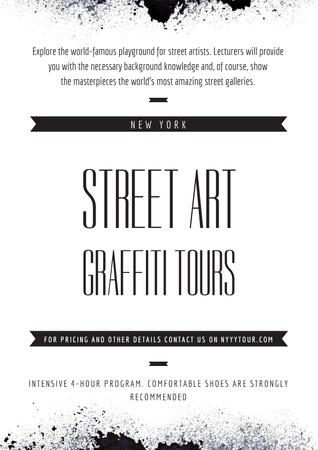 Ontwerpsjabloon van Poster van Street Art Graffiti Tours