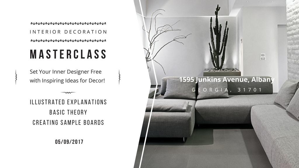 Interior decoration masterclass with Sofa in grey — Maak een ontwerp