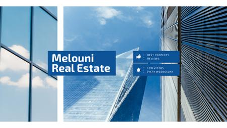 Modèle de visuel Real Estate Offer with Modern Skyscrapers in Blue - Youtube