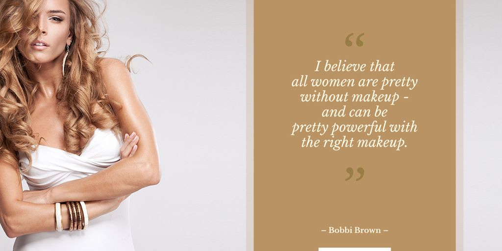 Beautiful young woman with motivational quote — Maak een ontwerp