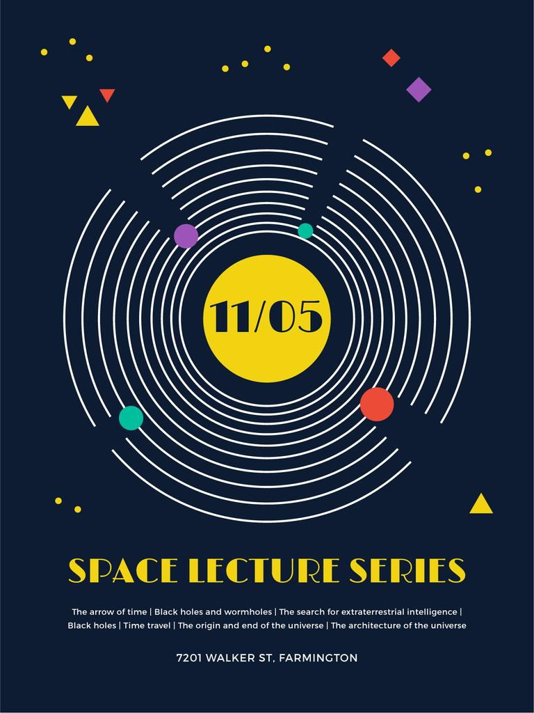 Space Event Announcement Space Objects System — Crear un diseño