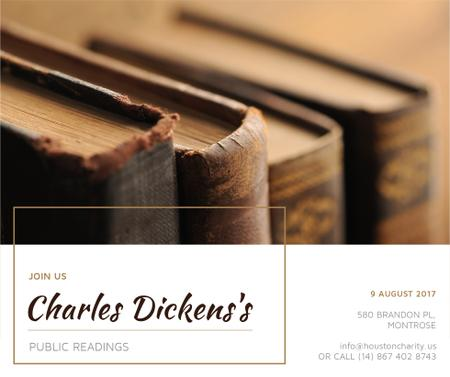Template di design invitation to public readings Facebook