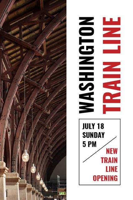 Train Line Opening Announcement Station Interior Tumblr Design Template