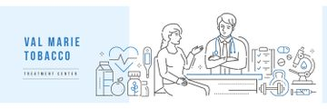 Clinic Ad Doctor Talking to Patient | Twitter Header Template