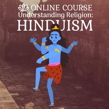 Hindu god Shiva on temple background