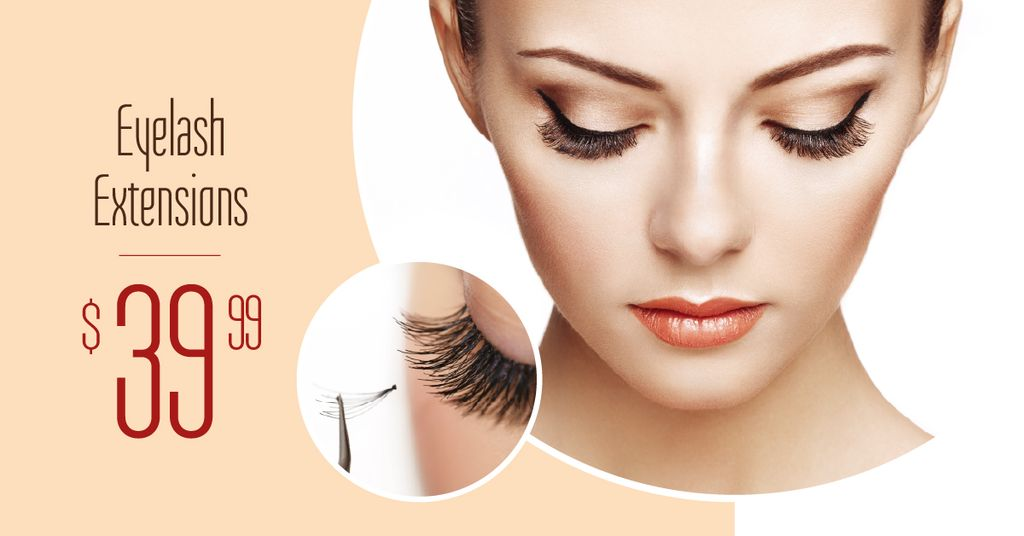 Eyelash Extensions Offer with Tender Woman — Modelo de projeto