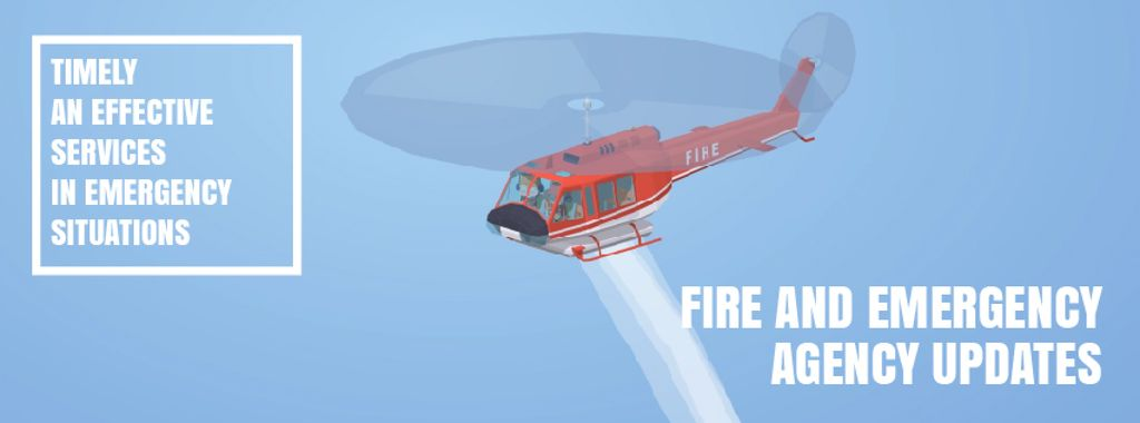 Fire helicopter dropping water — Créer un visuel