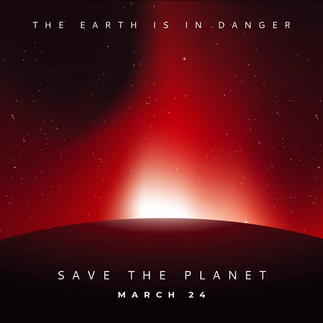Modèle de visuel Sun rising over Red Planet - Animated Post