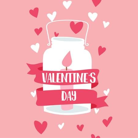 Ontwerpsjabloon van Animated Post van Candle in jar for Valentine's Day