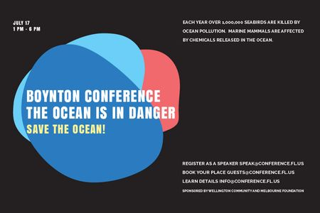 Ontwerpsjabloon van Gift Certificate van Boynton conference the ocean is in danger