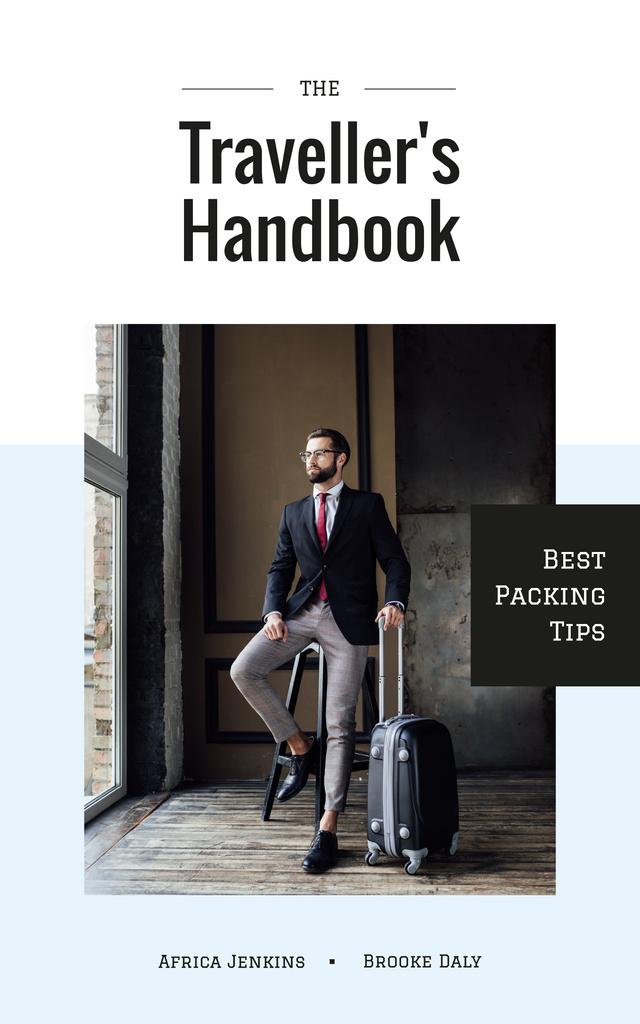 Busunissman with travelling suitcase — Create a Design