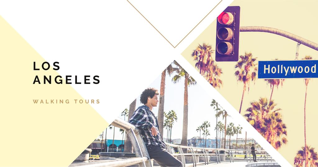 Walking tours Los Angeles city —デザインを作成する