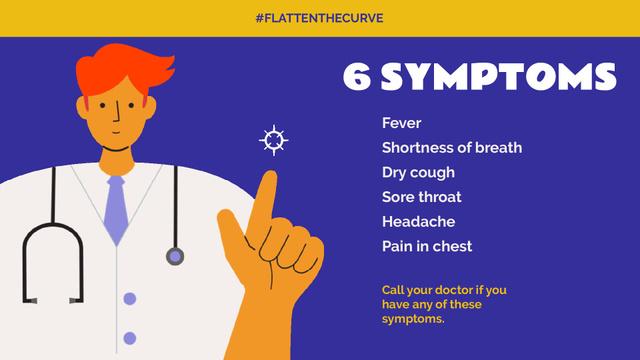 #FlattenTheCurve Coronavirus symptoms with Doctor's advice Full HD video – шаблон для дизайна