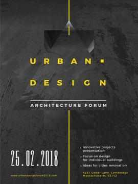 Urban Design event annoouncment with Concrete wall
