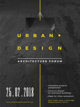 Urban Design event annoouncment with Concrete wall Poster USデザインテンプレート