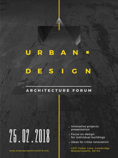 Plantilla de diseño de Urban Design event annoouncment with Concrete wall Poster US