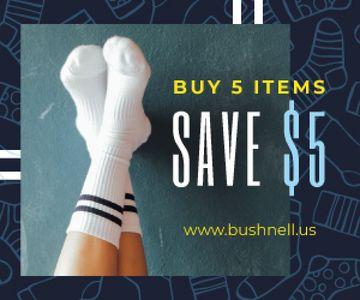 Clothes Sale Feet in White Socks | Medium Rectangle Template