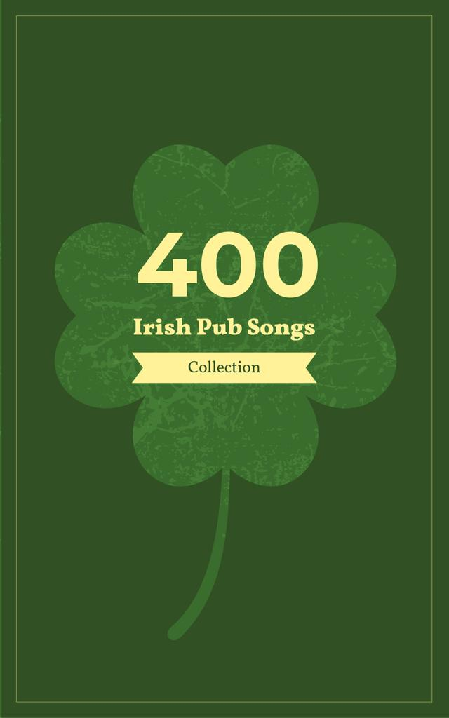 Irish Songs Collection Green Four-Leaf Clover — Créer un visuel