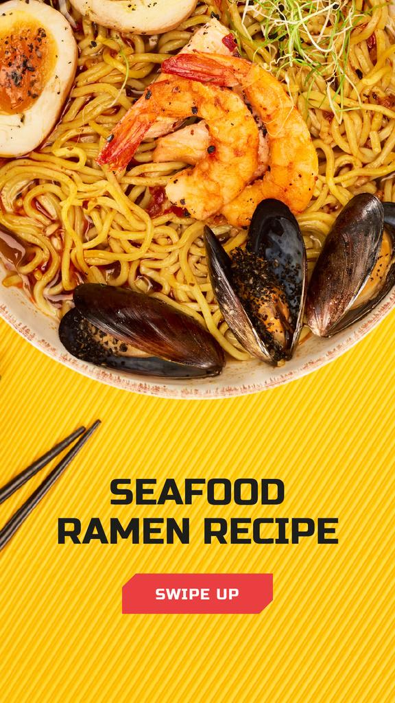 Asian Cuisine Dish with Noodles — Crear un diseño