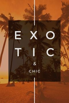 Exotic tropical resort poster