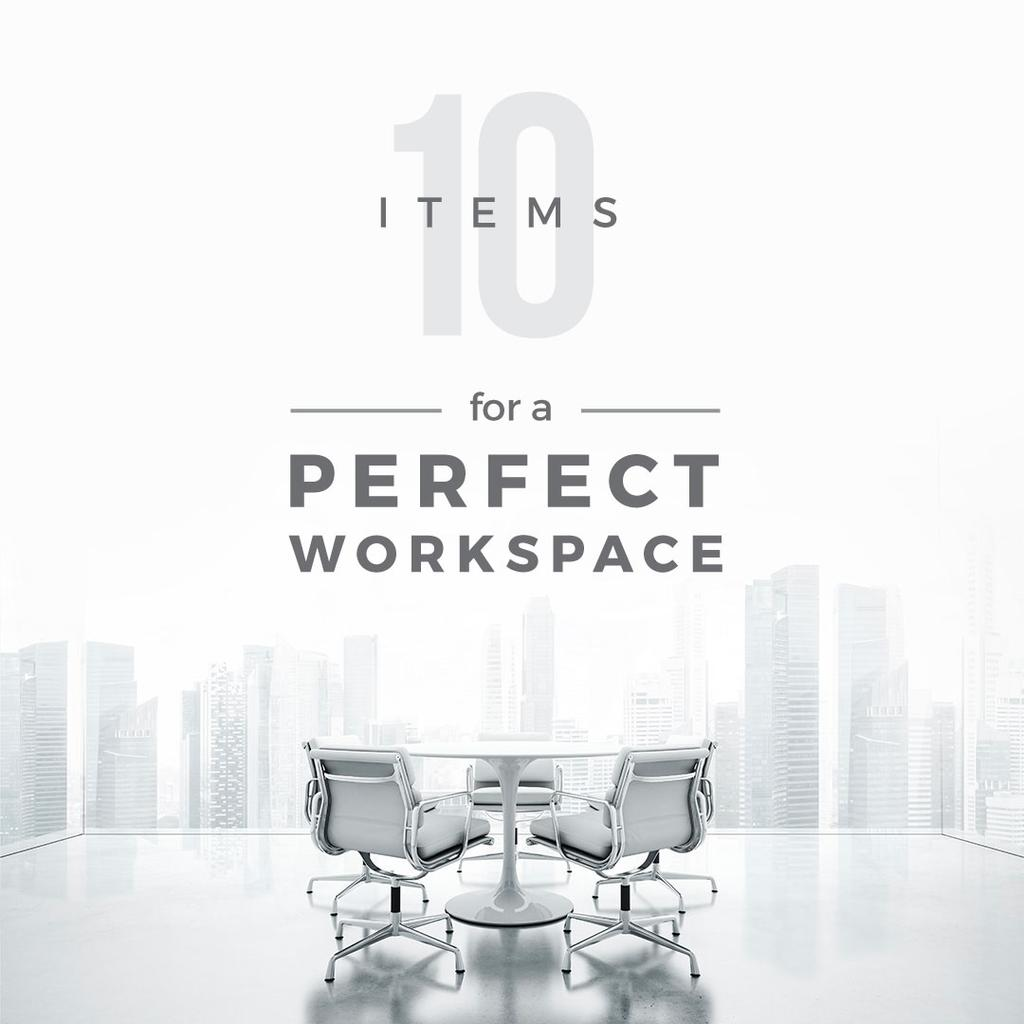 Items for perfect work space poster — Crea un design