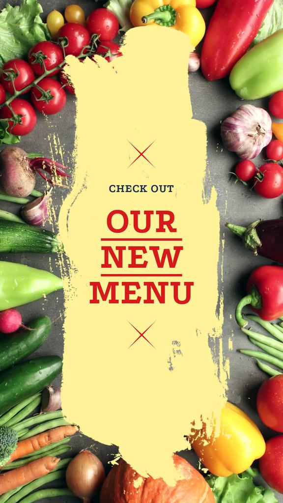 New Vegetarian menu Offer — Crea un design