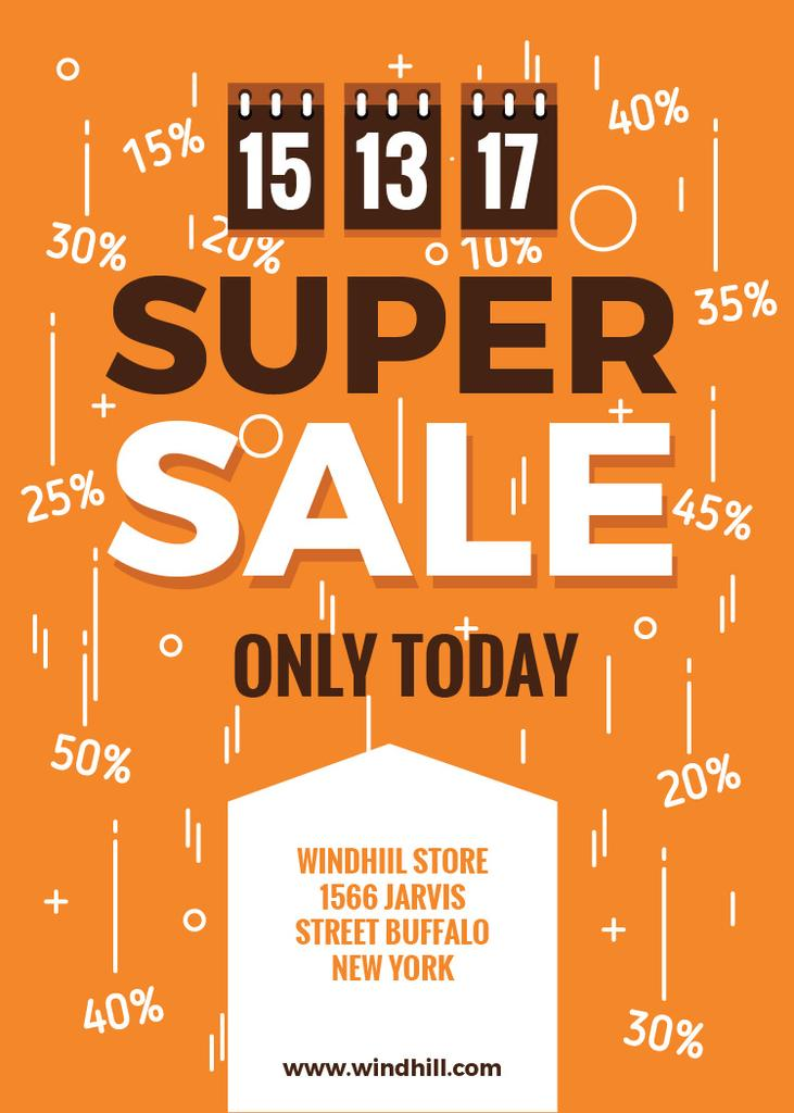 Store sale with Tags in orange — Maak een ontwerp