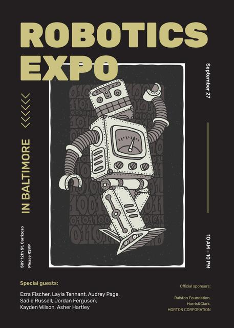 Android robot model for Robotic expo Invitation – шаблон для дизайна