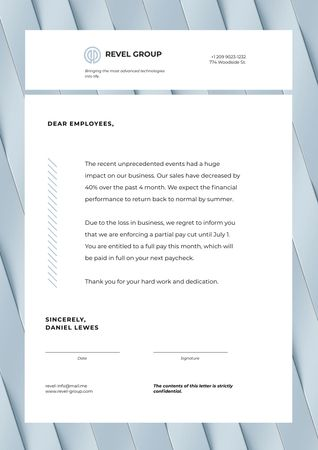 Business Company's Results and Salary Information Letterhead – шаблон для дизайну