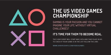 Template di design Video Games Championship announcement Image