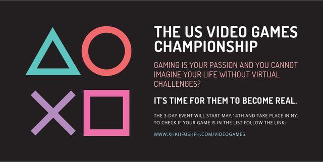 Designvorlage Video Games Championship announcement für Image