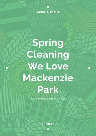 Spring cleaning in Mackenzie park Poster – шаблон для дизайна