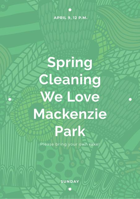 Modèle de visuel Spring cleaning in Mackenzie park - Poster