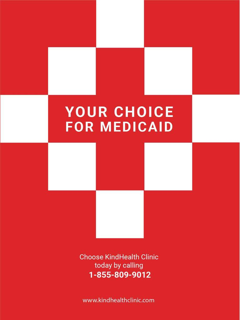 medicaid clinic red poster — Create a Design