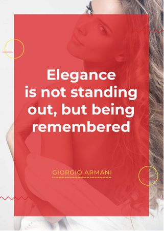 Template di design Elegance quote with Young attractive Woman Invitation
