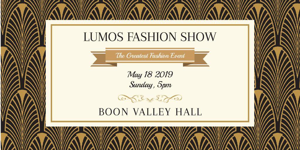 Lumos fashion show poster — Створити дизайн