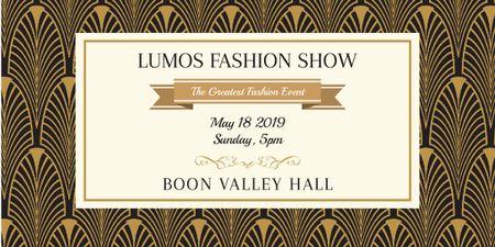 Lumos fashion show poster Image Design Template